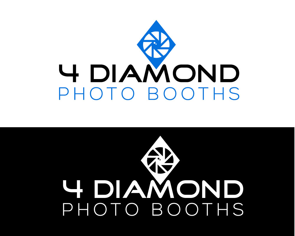 Logo Design by Md Harun Or Rashid - Entry No. 15 in the Logo Design Contest Creative Logo Design for 4 Diamond Photo Booths.
