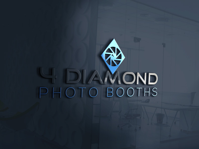 Logo Design by Md Harun Or Rashid - Entry No. 16 in the Logo Design Contest Creative Logo Design for 4 Diamond Photo Booths.