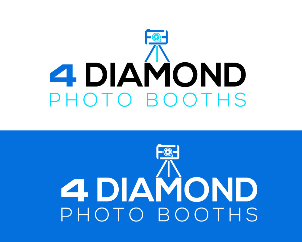 Logo Design by Md Harun Or Rashid - Entry No. 18 in the Logo Design Contest Creative Logo Design for 4 Diamond Photo Booths.