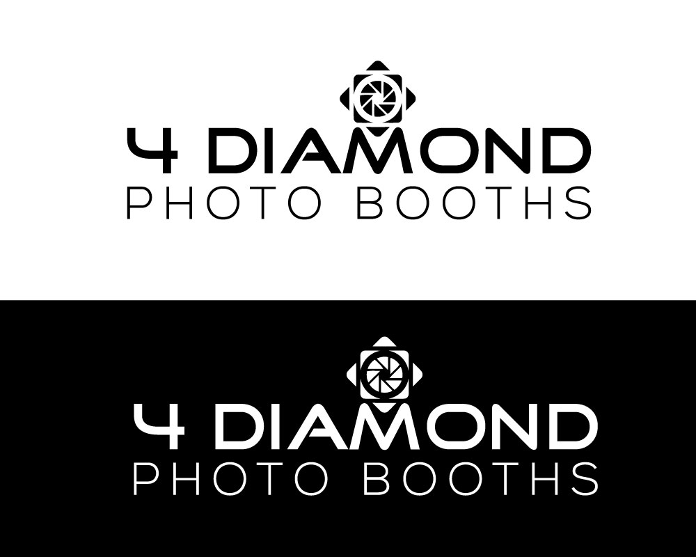 Logo Design by Md Harun Or Rashid - Entry No. 20 in the Logo Design Contest Creative Logo Design for 4 Diamond Photo Booths.