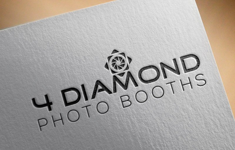 Logo Design by Md Harun Or Rashid - Entry No. 21 in the Logo Design Contest Creative Logo Design for 4 Diamond Photo Booths.