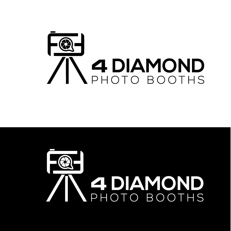 Logo Design by Md Harun Or Rashid - Entry No. 22 in the Logo Design Contest Creative Logo Design for 4 Diamond Photo Booths.