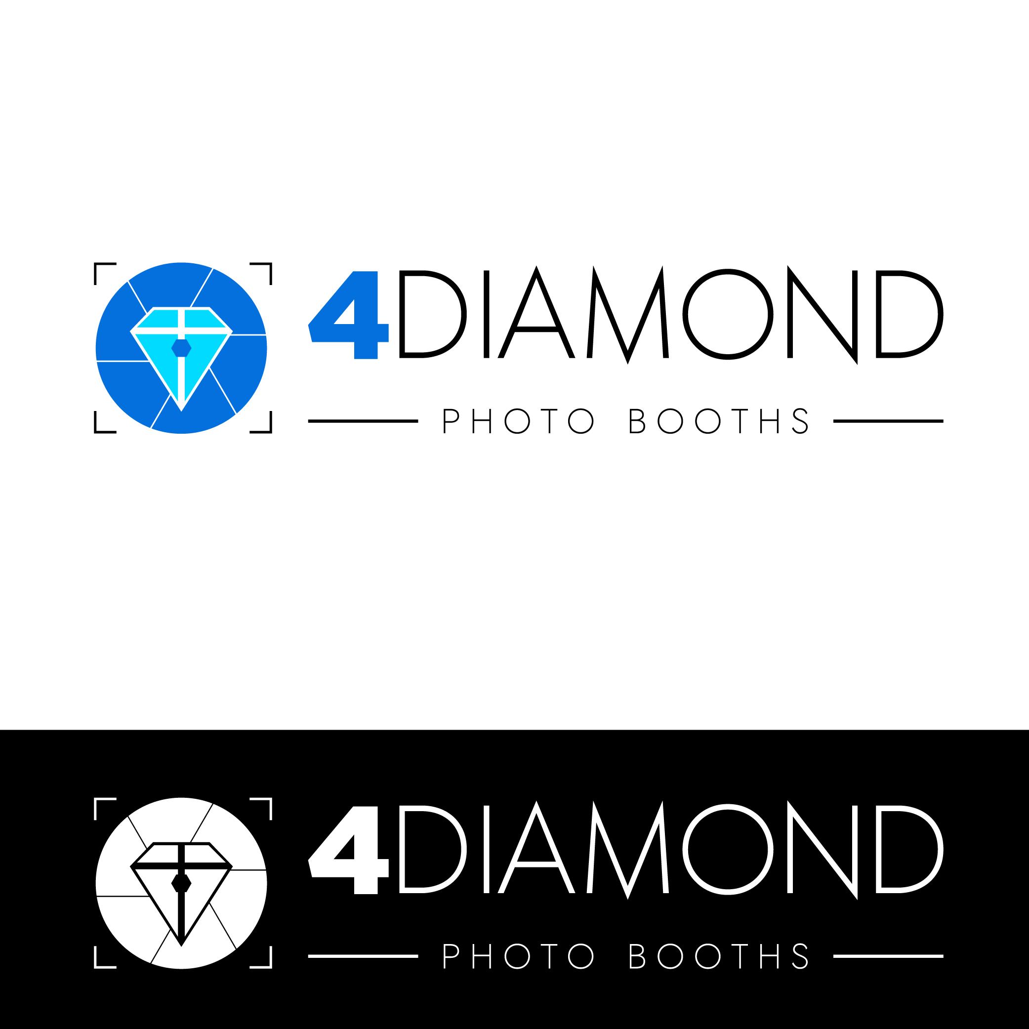 Logo Design by Private User - Entry No. 25 in the Logo Design Contest Creative Logo Design for 4 Diamond Photo Booths.