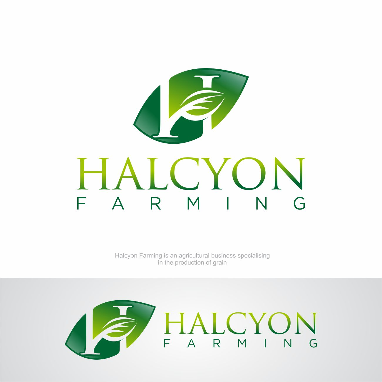 Logo Design by RasYa Muhammad Athaya - Entry No. 141 in the Logo Design Contest Creative Logo Design for Halcyon Farming.
