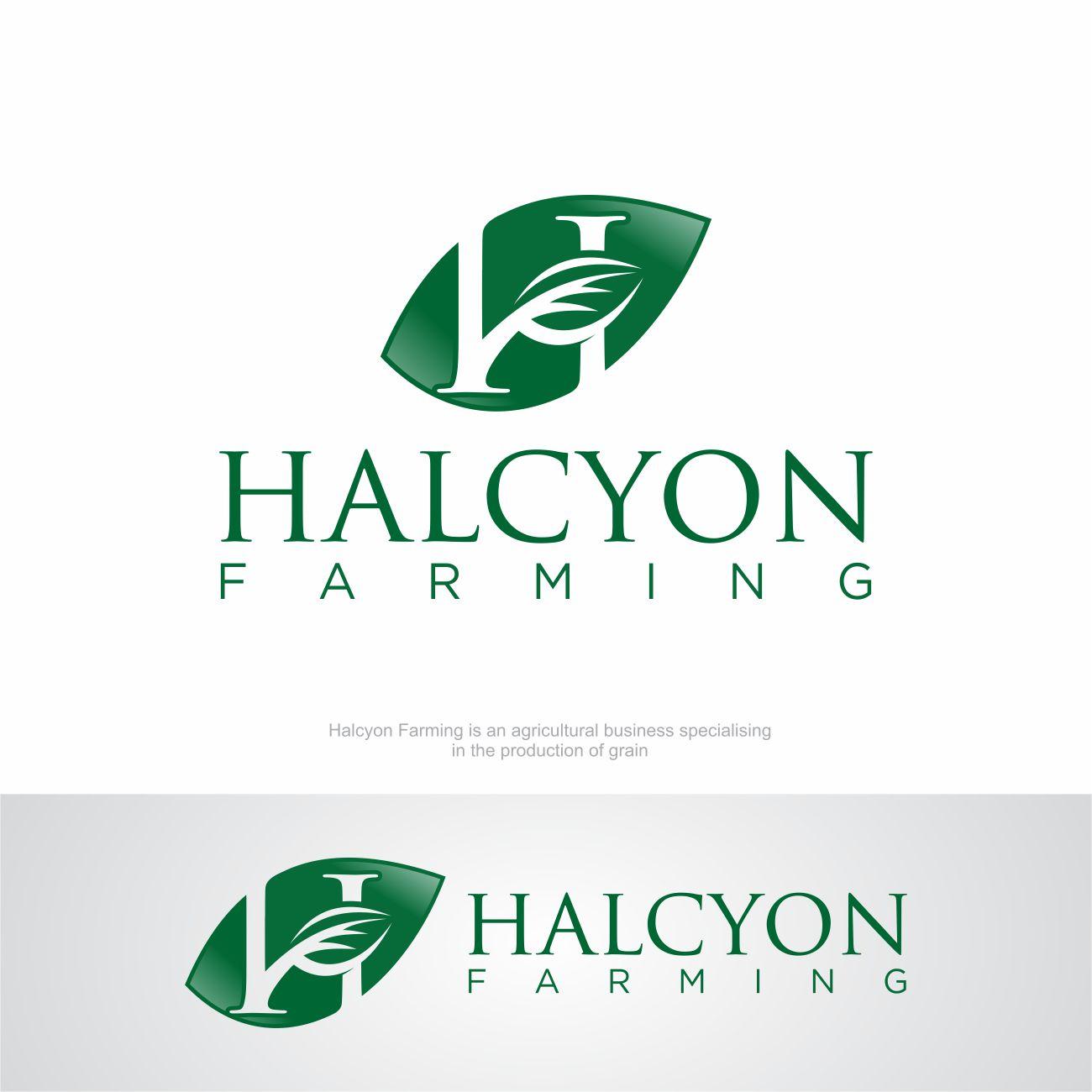 Logo Design by RasYa Muhammad Athaya - Entry No. 143 in the Logo Design Contest Creative Logo Design for Halcyon Farming.