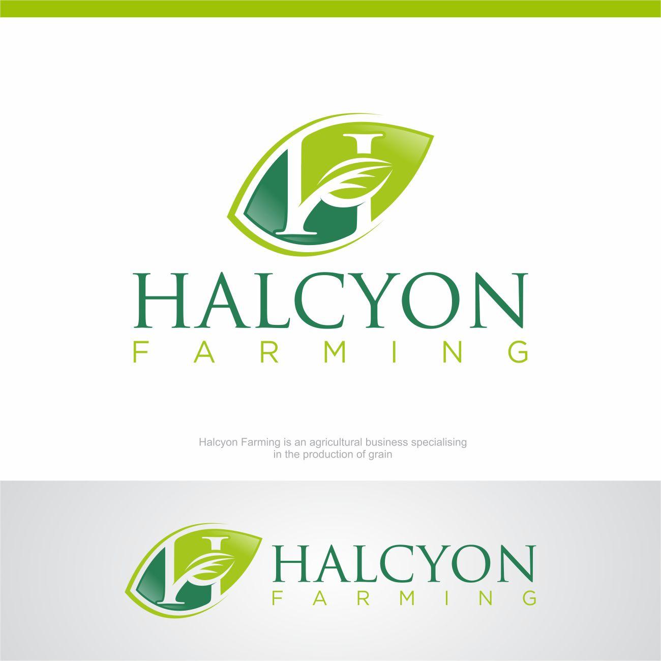 Logo Design by RasYa Muhammad Athaya - Entry No. 144 in the Logo Design Contest Creative Logo Design for Halcyon Farming.