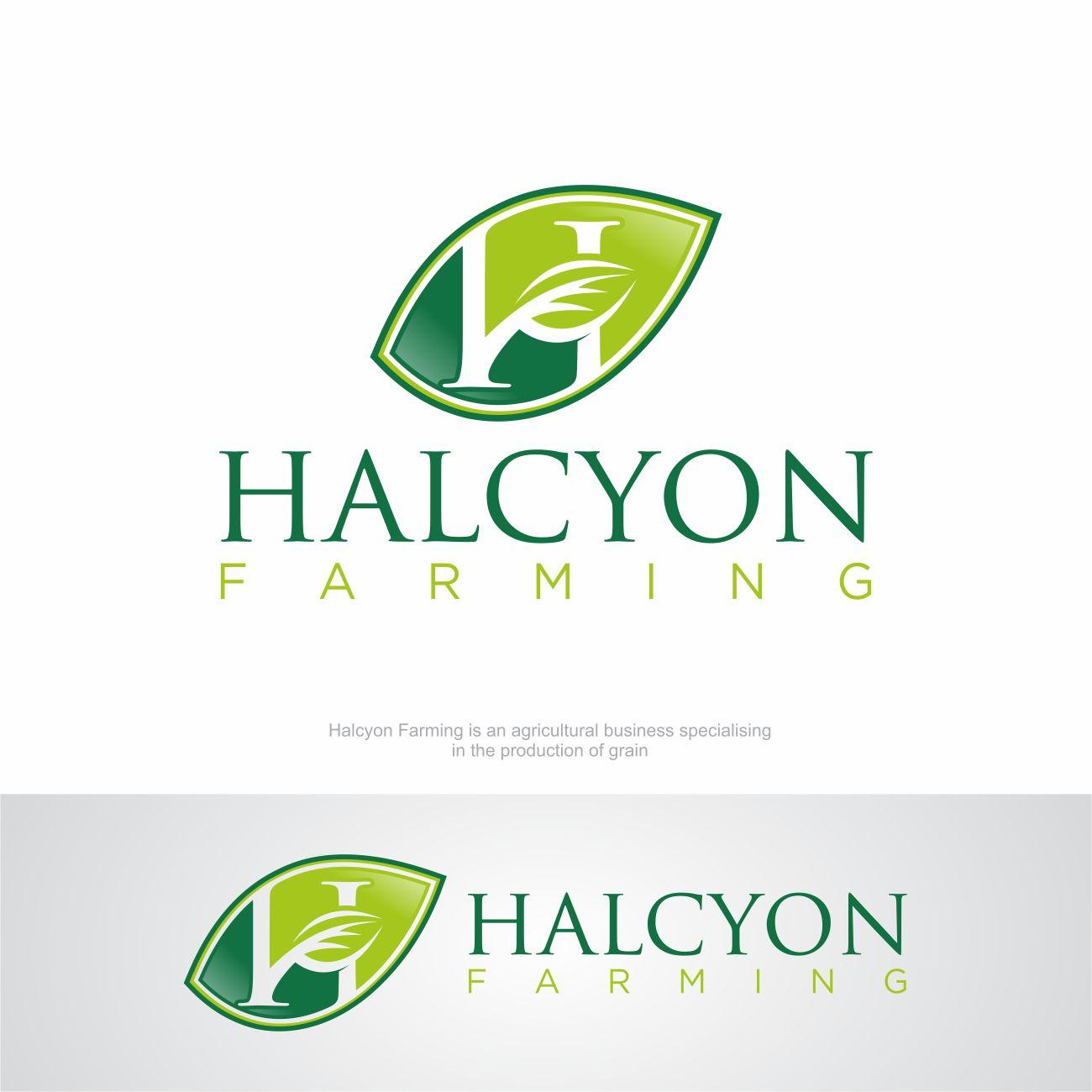 Logo Design by RasYa Muhammad Athaya - Entry No. 145 in the Logo Design Contest Creative Logo Design for Halcyon Farming.