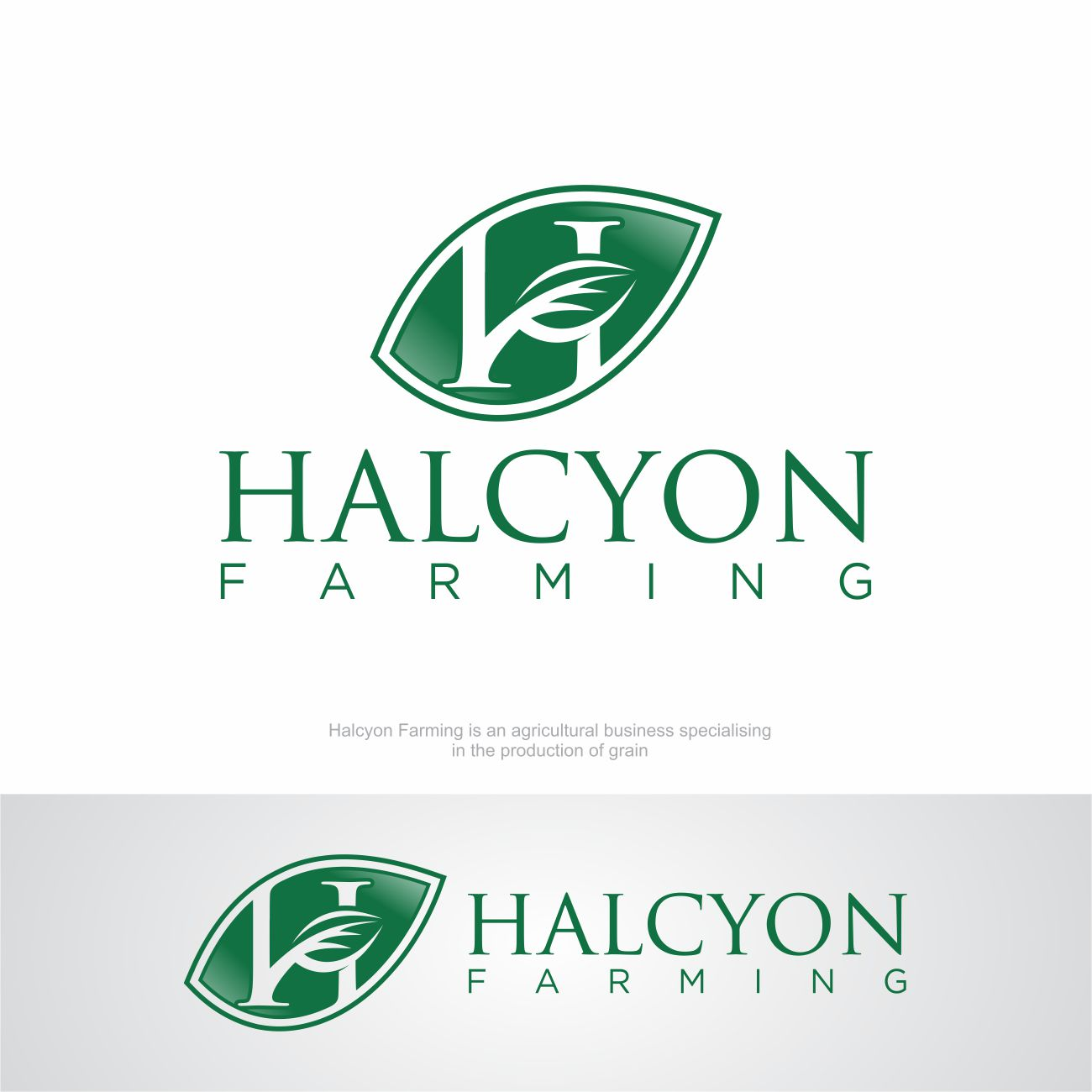 Logo Design by RasYa Muhammad Athaya - Entry No. 147 in the Logo Design Contest Creative Logo Design for Halcyon Farming.