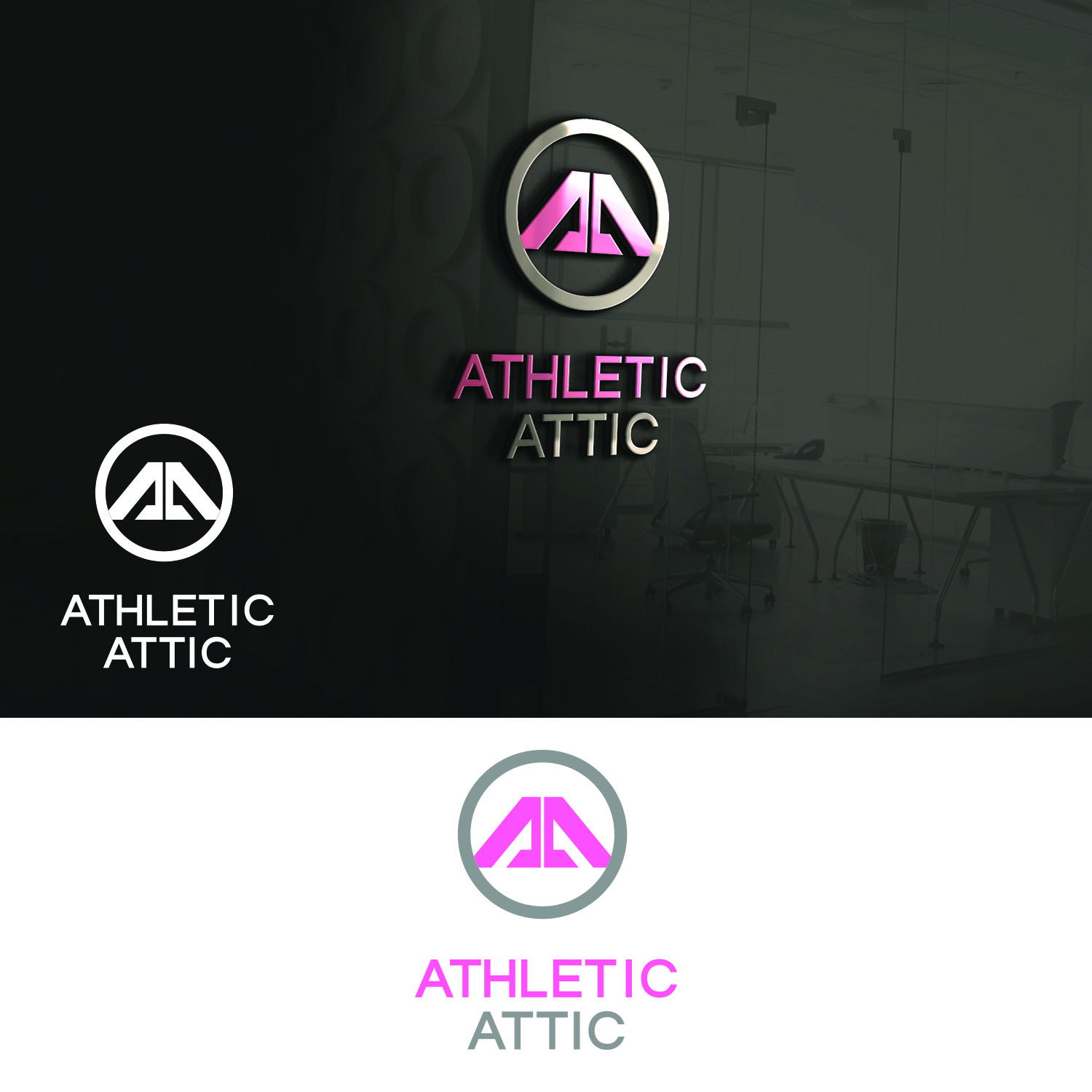Logo Design by Umair ahmed Iqbal - Entry No. 177 in the Logo Design Contest Fun Logo Design for Athletic Attic.