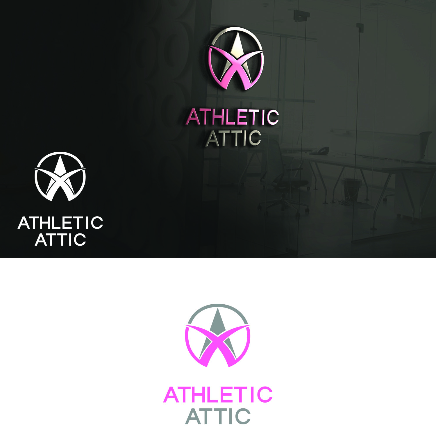 Logo Design by Umair ahmed Iqbal - Entry No. 178 in the Logo Design Contest Fun Logo Design for Athletic Attic.