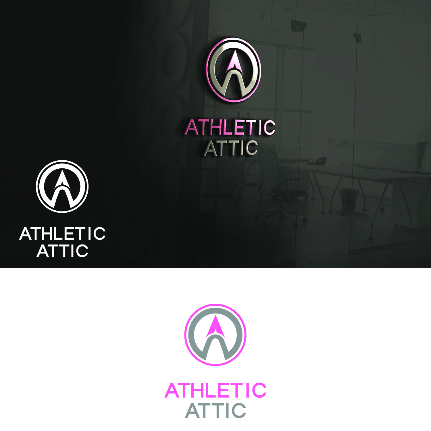 Logo Design by Umair ahmed Iqbal - Entry No. 179 in the Logo Design Contest Fun Logo Design for Athletic Attic.