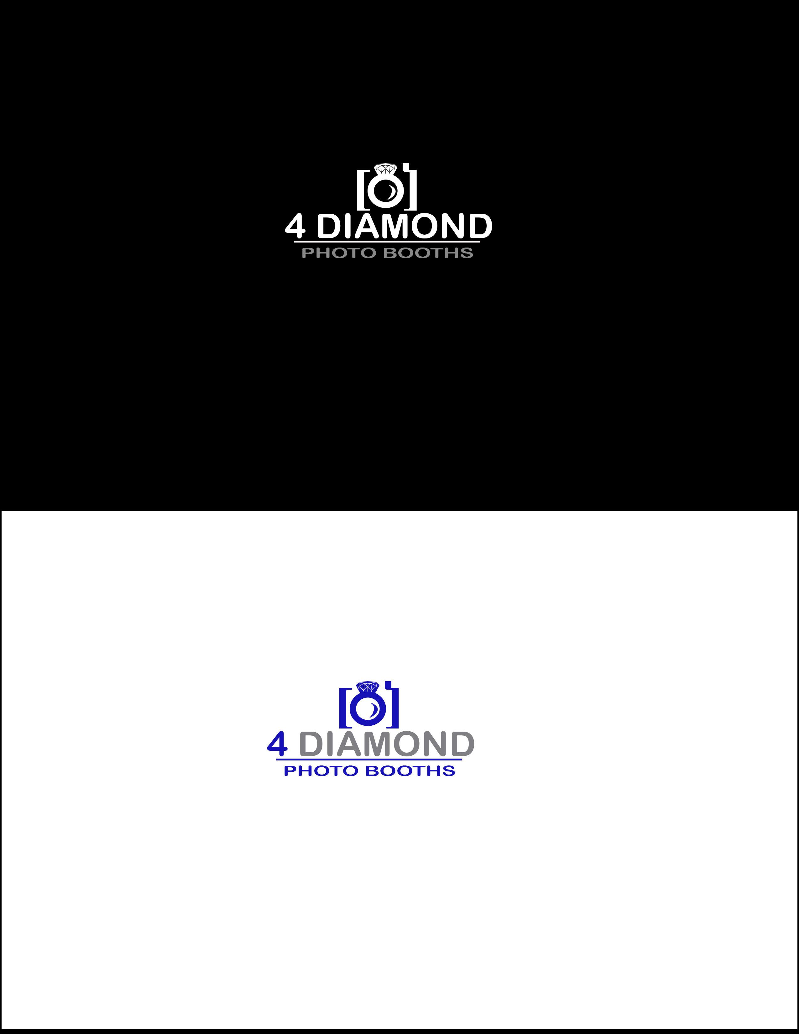 Logo Design by kjm22 - Entry No. 31 in the Logo Design Contest Creative Logo Design for 4 Diamond Photo Booths.