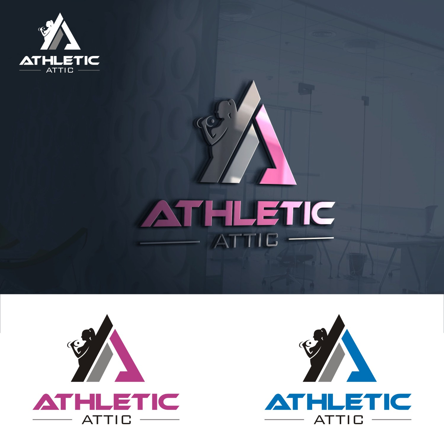 Logo Design by Spider Graphics - Entry No. 192 in the Logo Design Contest Fun Logo Design for Athletic Attic.