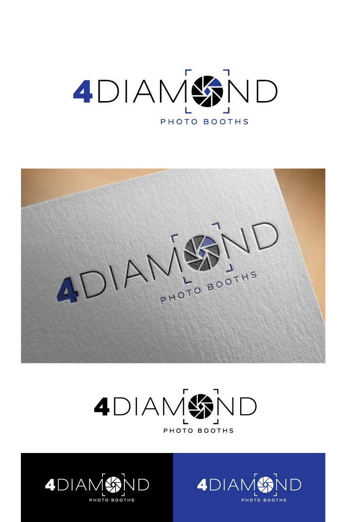 Logo Design by Tauhid Shaikh - Entry No. 38 in the Logo Design Contest Creative Logo Design for 4 Diamond Photo Booths.