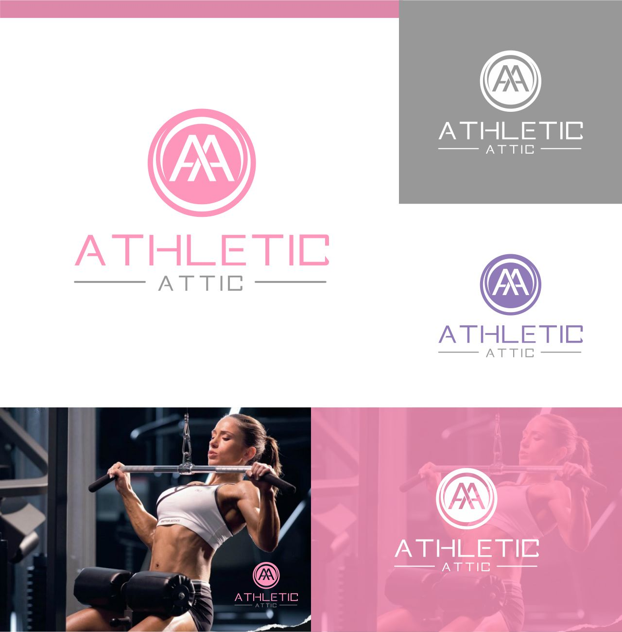 Logo Design by RasYa Muhammad Athaya - Entry No. 197 in the Logo Design Contest Fun Logo Design for Athletic Attic.
