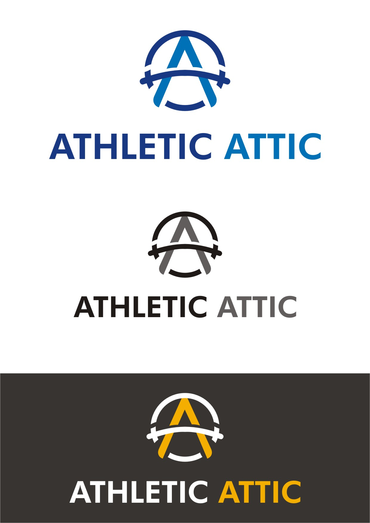 Logo Design by Spider Graphics - Entry No. 216 in the Logo Design Contest Fun Logo Design for Athletic Attic.