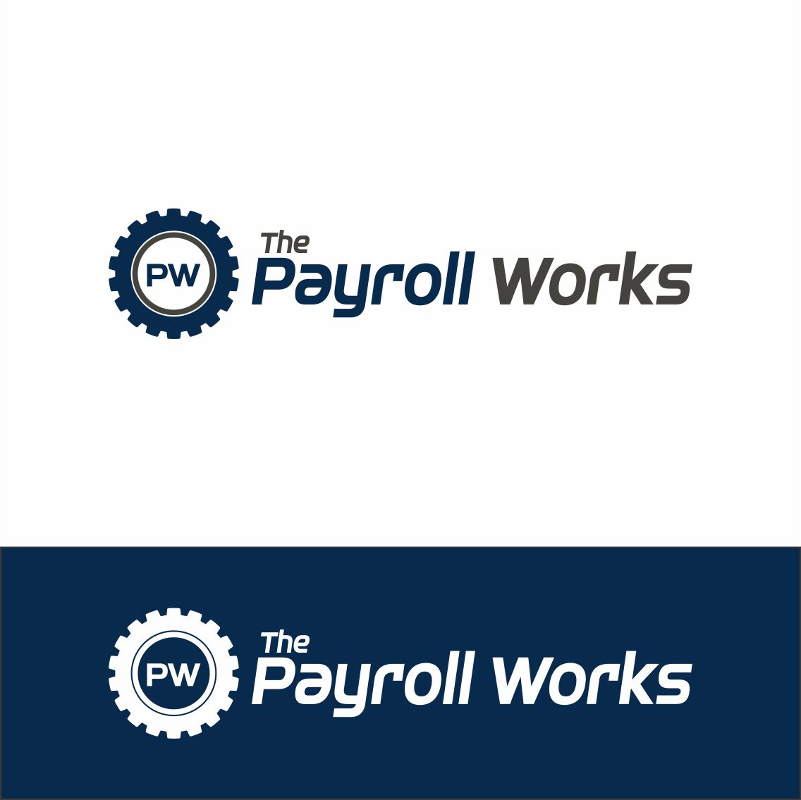 Logo Design by RasYa Muhammad Athaya - Entry No. 58 in the Logo Design Contest Captivating Logo Design for The Payroll Works.