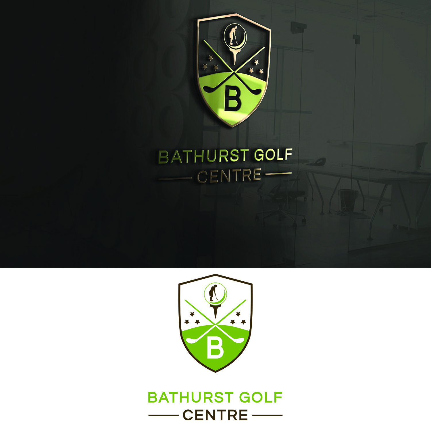 Logo Design by Umair ahmed Iqbal - Entry No. 44 in the Logo Design Contest Inspiring Logo Design for Bathurst Golf Centre.