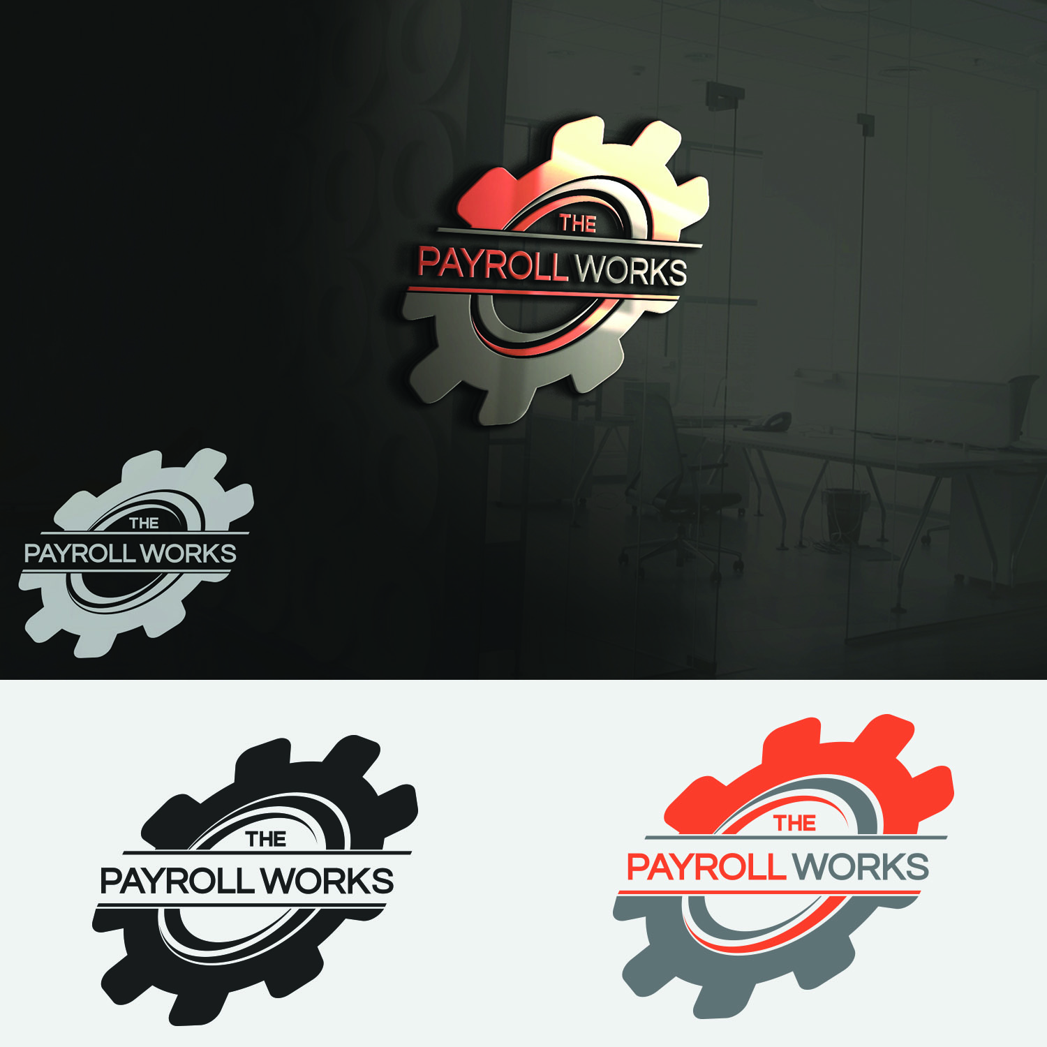 Logo Design by Umair ahmed Iqbal - Entry No. 103 in the Logo Design Contest Captivating Logo Design for The Payroll Works.