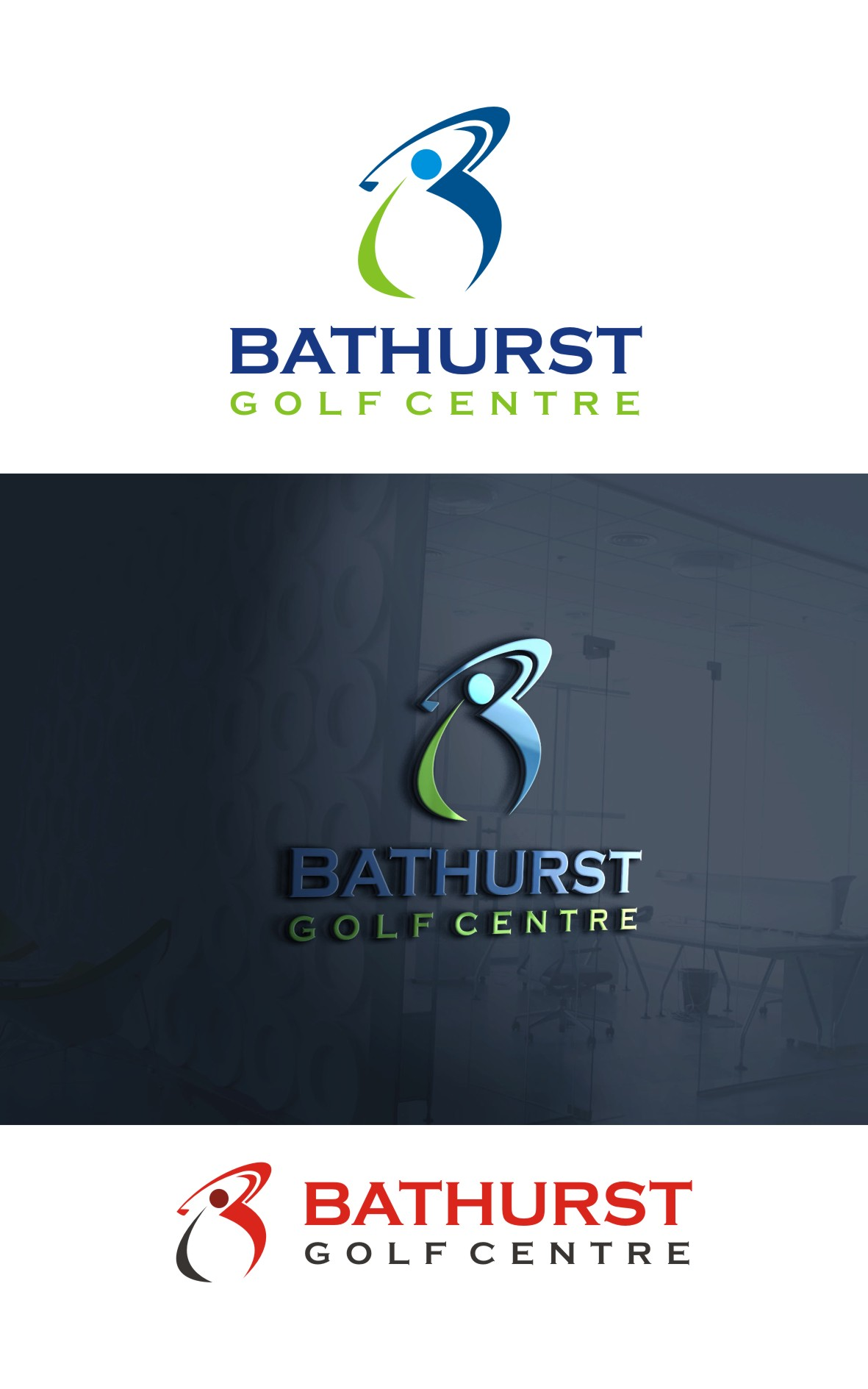 Logo Design by Spider Graphics - Entry No. 99 in the Logo Design Contest Inspiring Logo Design for Bathurst Golf Centre.