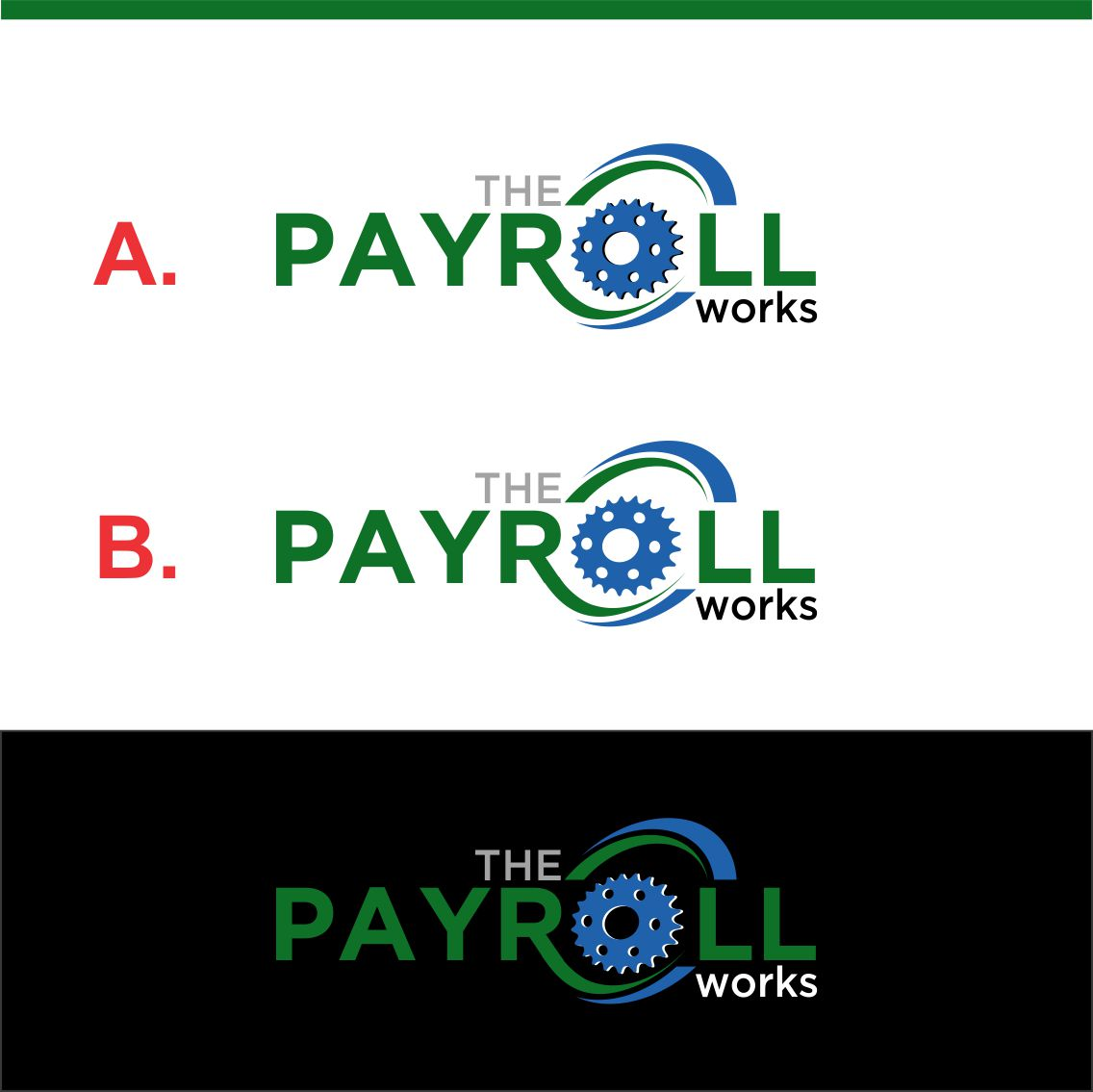 Logo Design by RasYa Muhammad Athaya - Entry No. 160 in the Logo Design Contest Captivating Logo Design for The Payroll Works.
