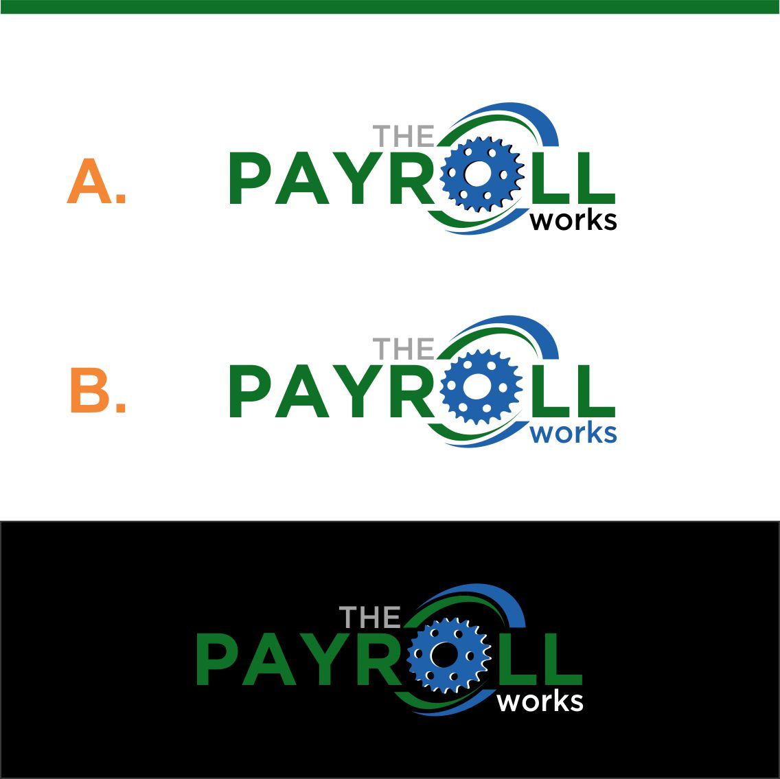 Logo Design by RasYa Muhammad Athaya - Entry No. 161 in the Logo Design Contest Captivating Logo Design for The Payroll Works.