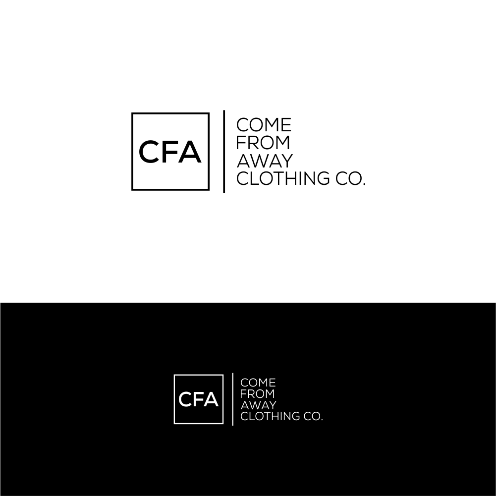 Logo Design by Ali Ismail - Entry No. 14 in the Logo Design Contest Artistic Logo Design for Come From Away Clothing Company.