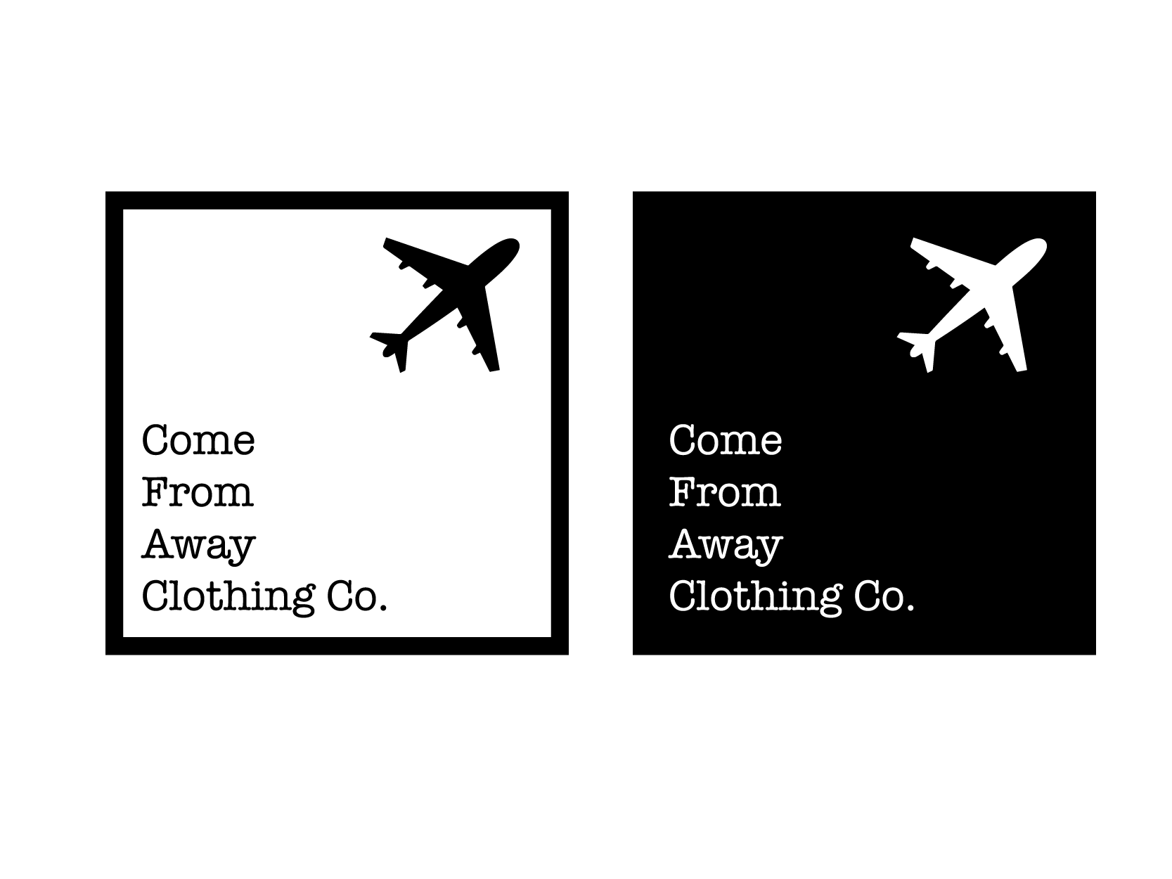 Logo Design by Private User - Entry No. 15 in the Logo Design Contest Artistic Logo Design for Come From Away Clothing Company.