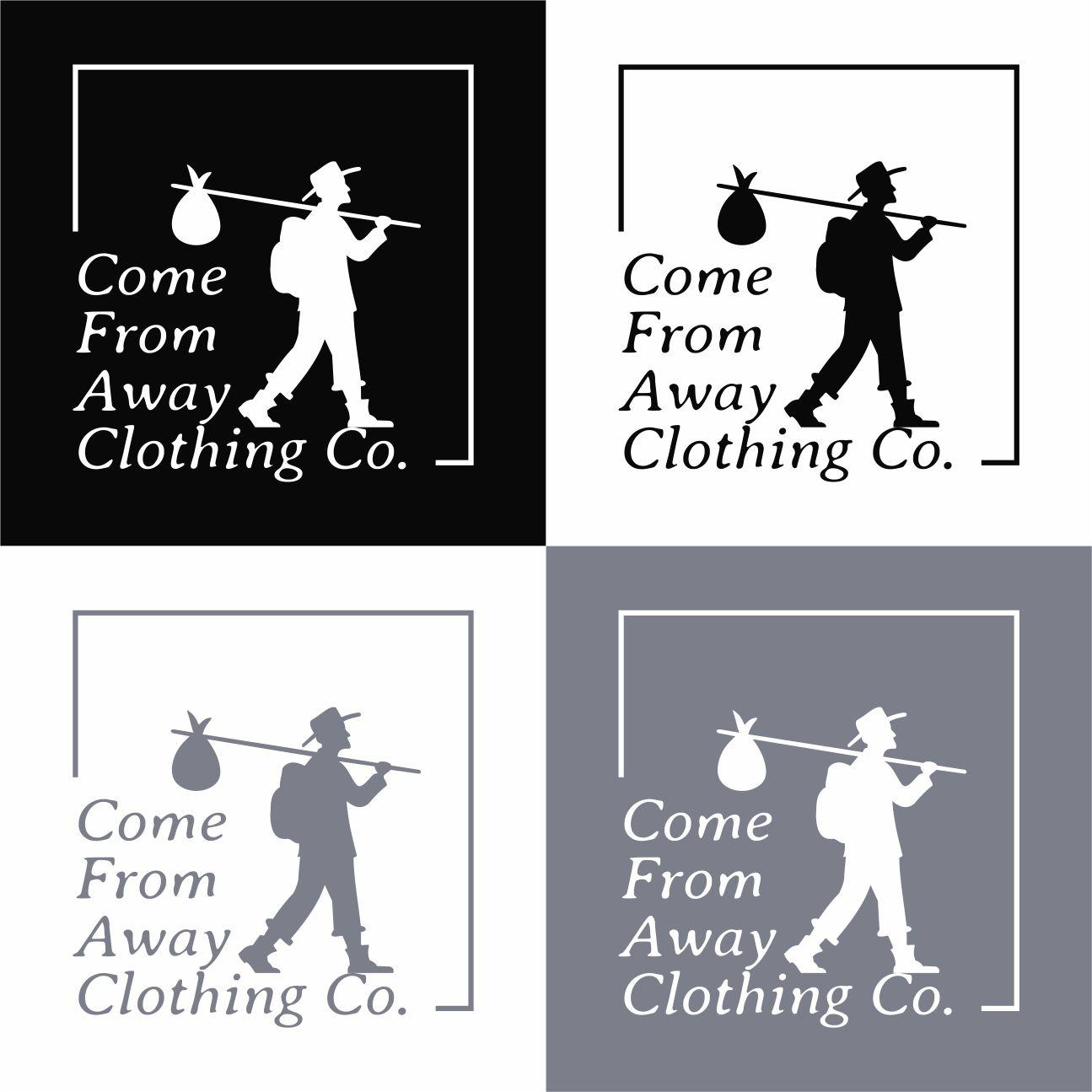 Logo Design by RasYa Muhammad Athaya - Entry No. 71 in the Logo Design Contest Artistic Logo Design for Come From Away Clothing Company.