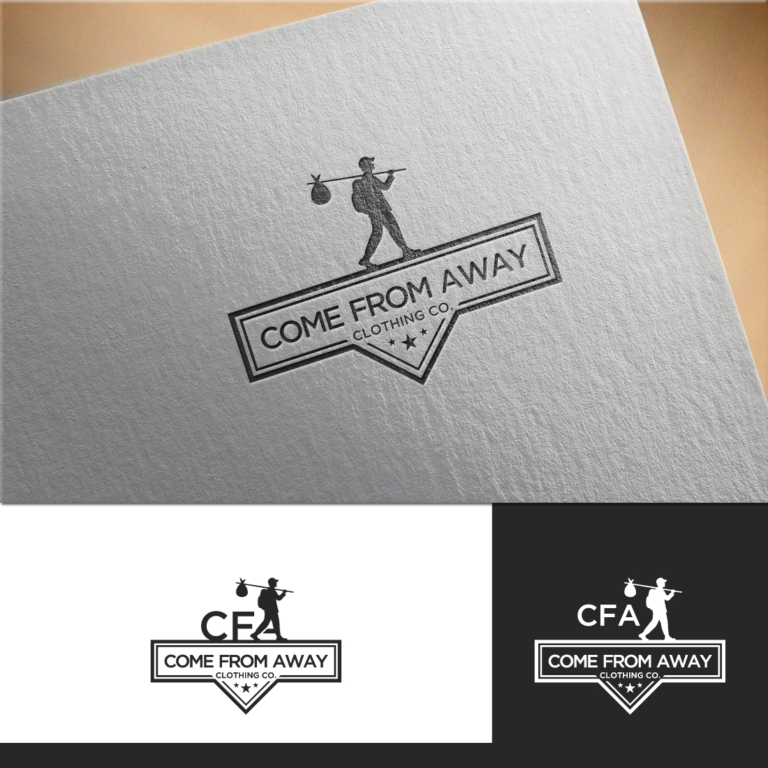 Logo Design by RasYa Muhammad Athaya - Entry No. 177 in the Logo Design Contest Artistic Logo Design for Come From Away Clothing Company.