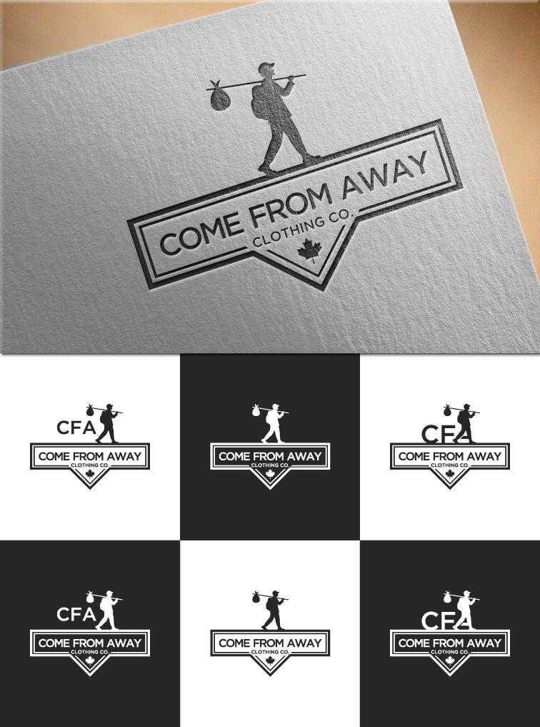 Logo Design by RasYa Muhammad Athaya - Entry No. 181 in the Logo Design Contest Artistic Logo Design for Come From Away Clothing Company.