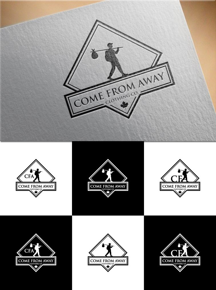 Logo Design by RasYa Muhammad Athaya - Entry No. 195 in the Logo Design Contest Artistic Logo Design for Come From Away Clothing Company.