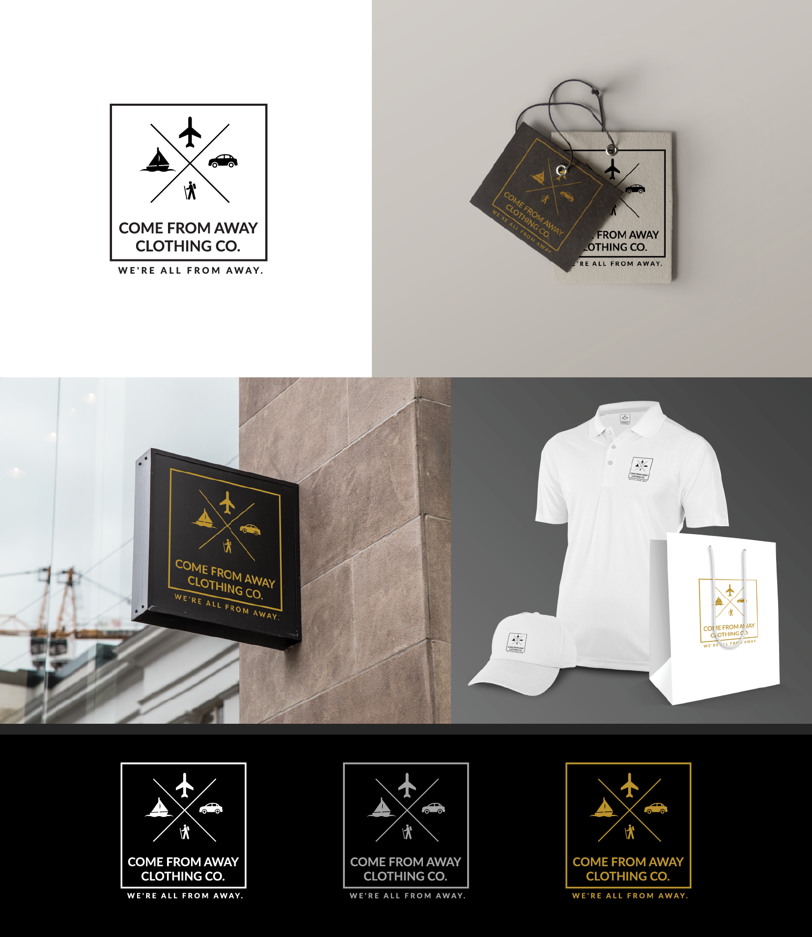 Logo Design by Aleksandar Stankov - Entry No. 202 in the Logo Design Contest Artistic Logo Design for Come From Away Clothing Company.