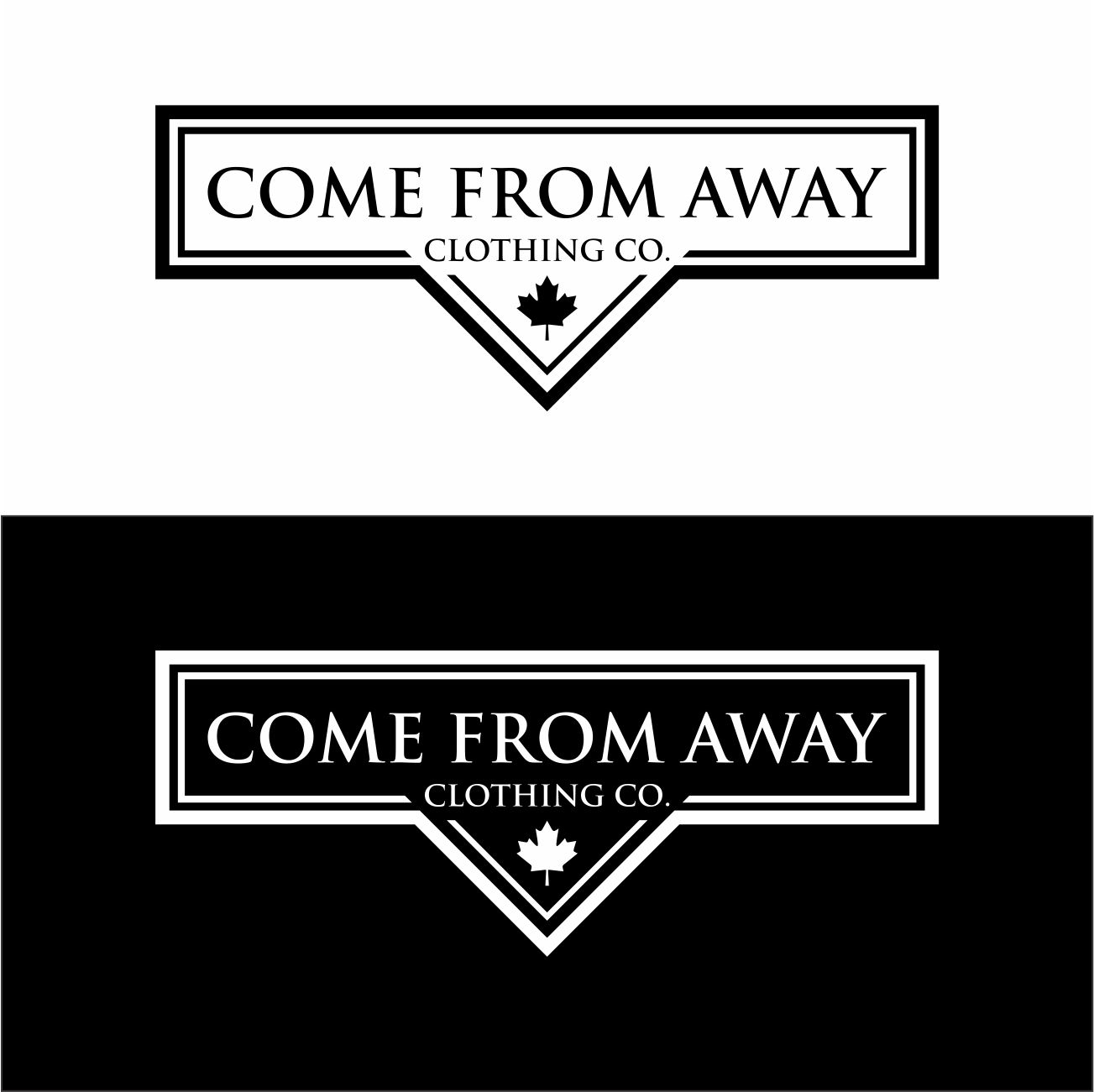 Logo Design by RasYa Muhammad Athaya - Entry No. 211 in the Logo Design Contest Artistic Logo Design for Come From Away Clothing Company.