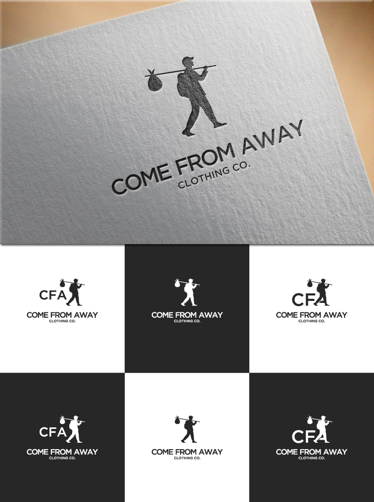 Logo Design by RasYa Muhammad Athaya - Entry No. 215 in the Logo Design Contest Artistic Logo Design for Come From Away Clothing Company.
