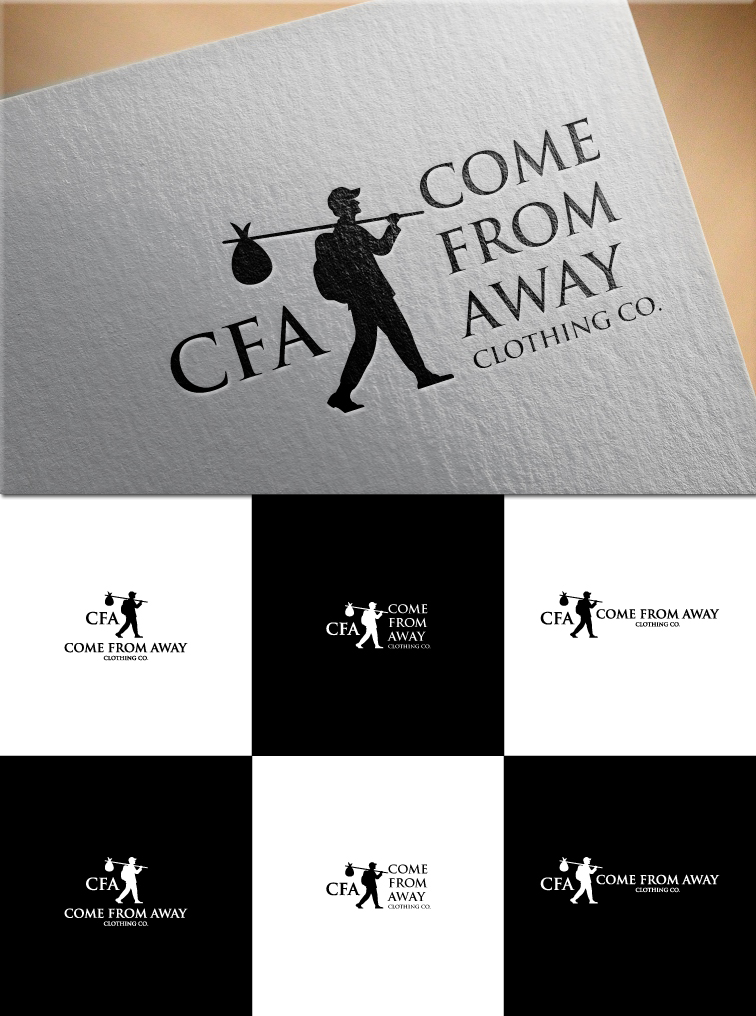Logo Design by RasYa Muhammad Athaya - Entry No. 216 in the Logo Design Contest Artistic Logo Design for Come From Away Clothing Company.