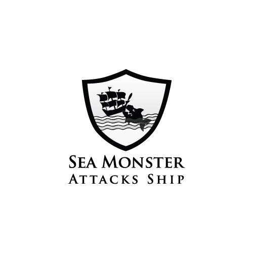 Logo Design by designhouse - Entry No. 1 in the Logo Design Contest Sea Monster Attacks Ship.