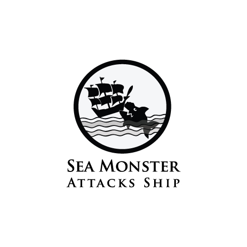 Logo Design by designhouse - Entry No. 2 in the Logo Design Contest Sea Monster Attacks Ship.