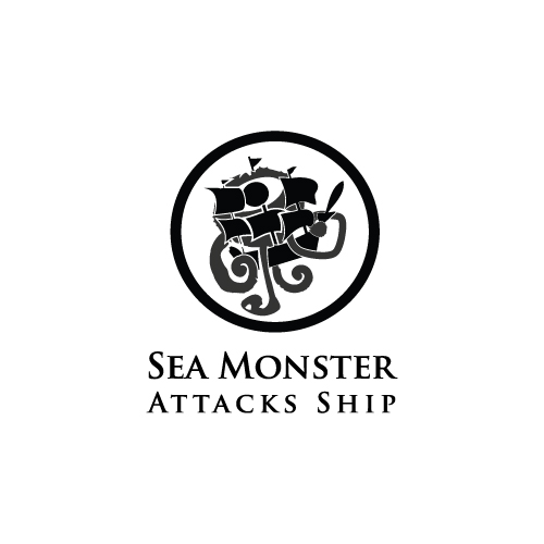 Logo Design by designhouse - Entry No. 3 in the Logo Design Contest Sea Monster Attacks Ship.