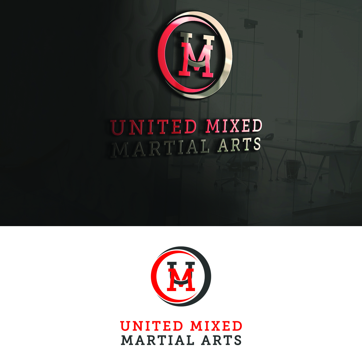 Logo Design by Umair ahmed Iqbal - Entry No. 76 in the Logo Design Contest Artistic Logo Design for United Mixed Martial Arts Ltd..