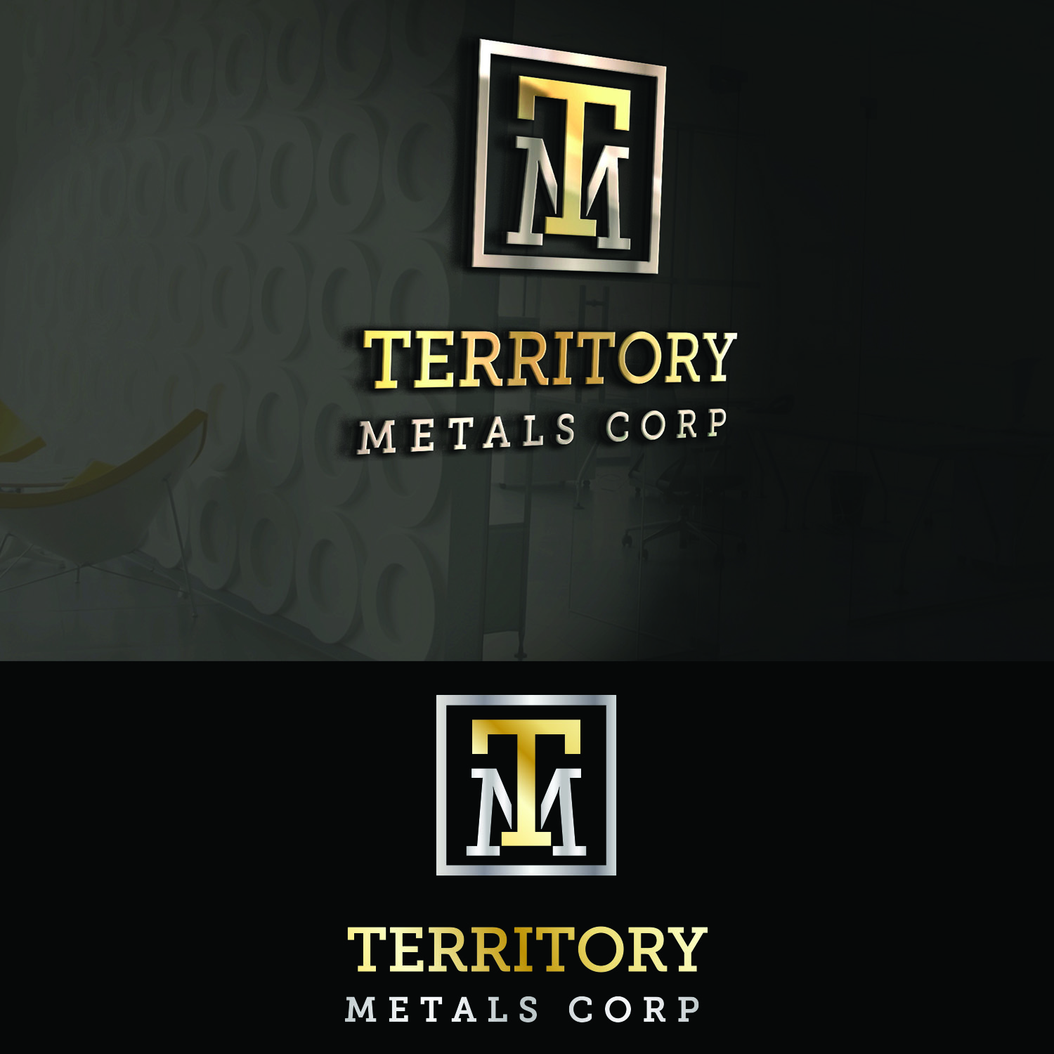 Logo Design by Umair ahmed Iqbal - Entry No. 101 in the Logo Design Contest Unique Logo Design Wanted for Territory Metals Corp..