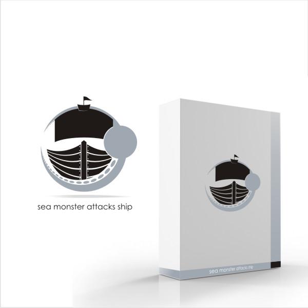 Logo Design by Private User - Entry No. 14 in the Logo Design Contest Sea Monster Attacks Ship.