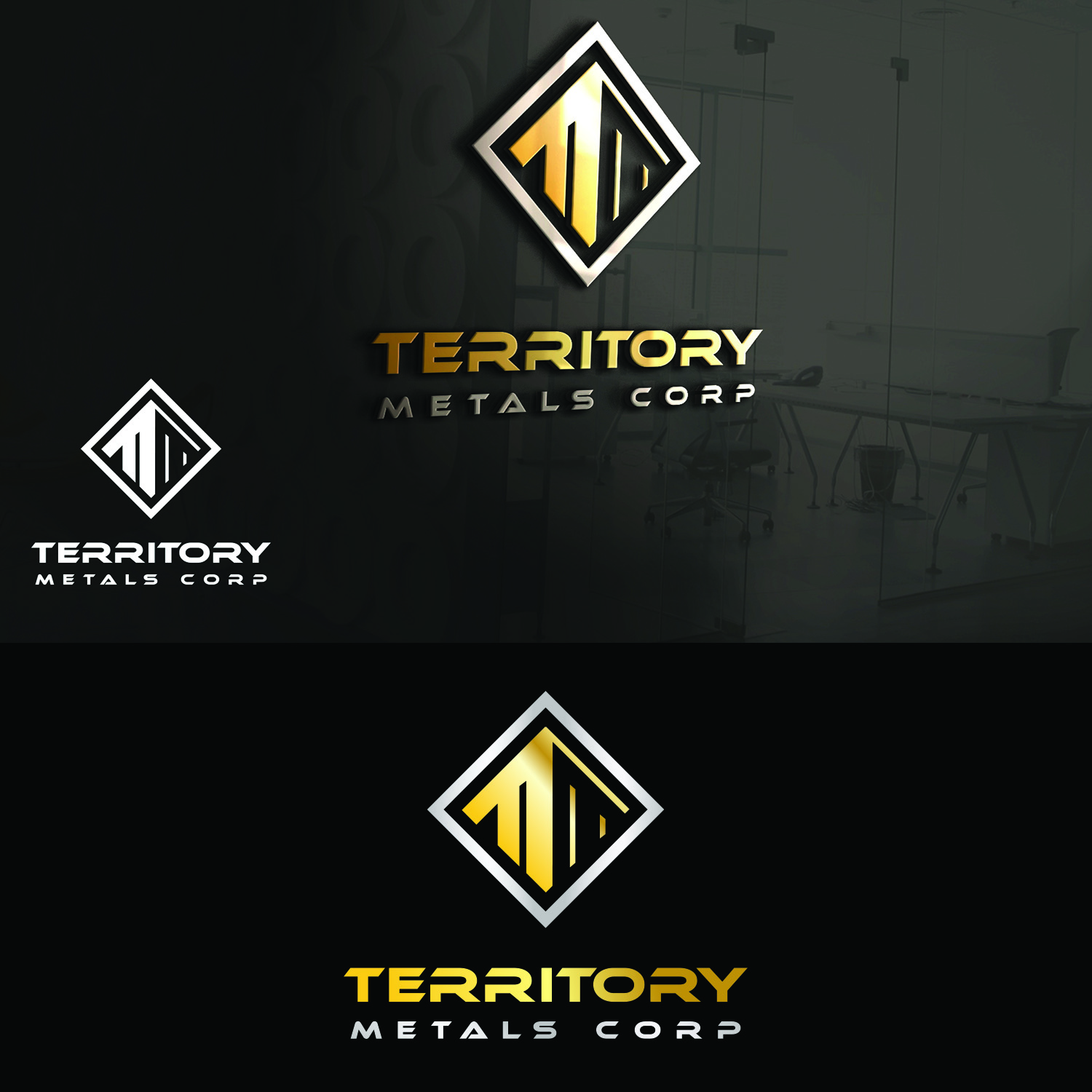 Logo Design by Umair ahmed Iqbal - Entry No. 112 in the Logo Design Contest Unique Logo Design Wanted for Territory Metals Corp..