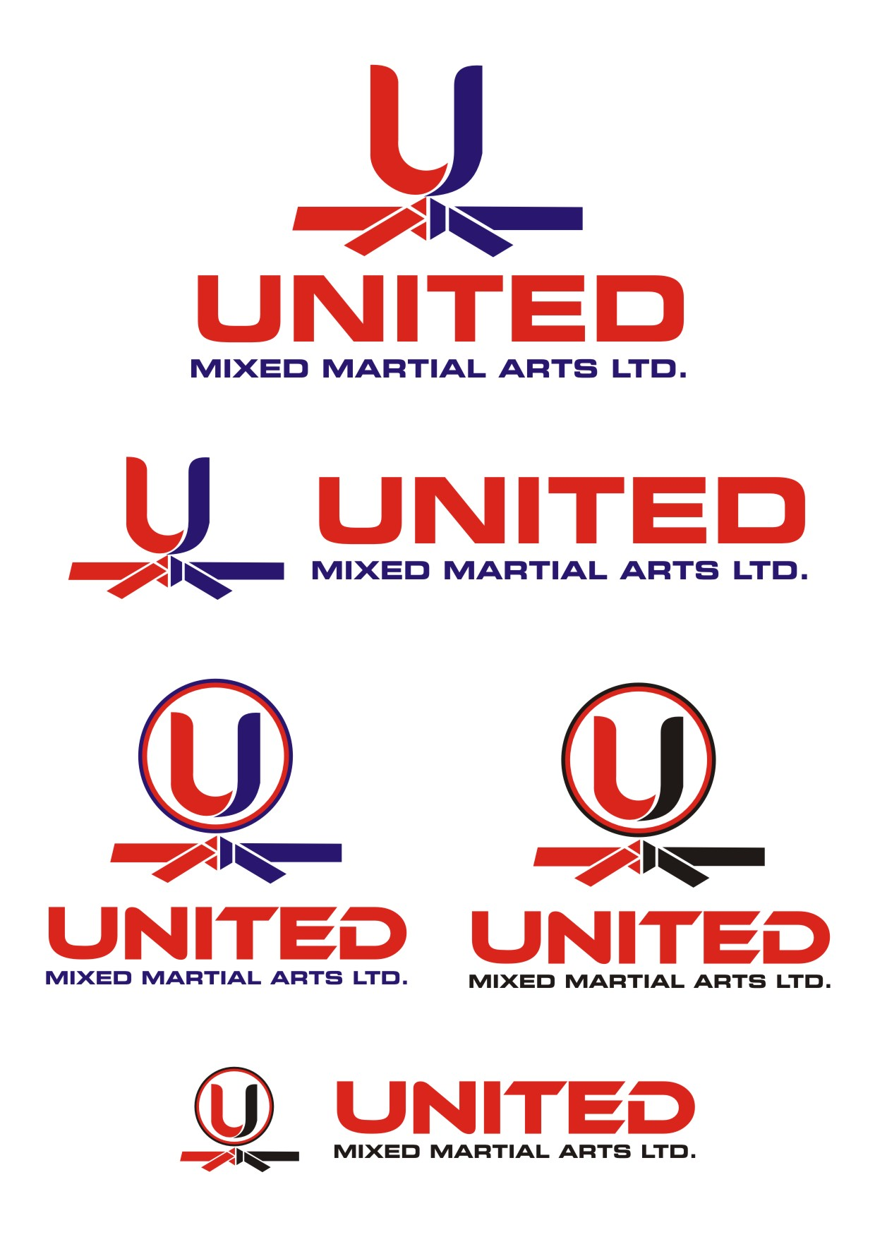 Logo Design by Spider Graphics - Entry No. 105 in the Logo Design Contest Artistic Logo Design for United Mixed Martial Arts Ltd..