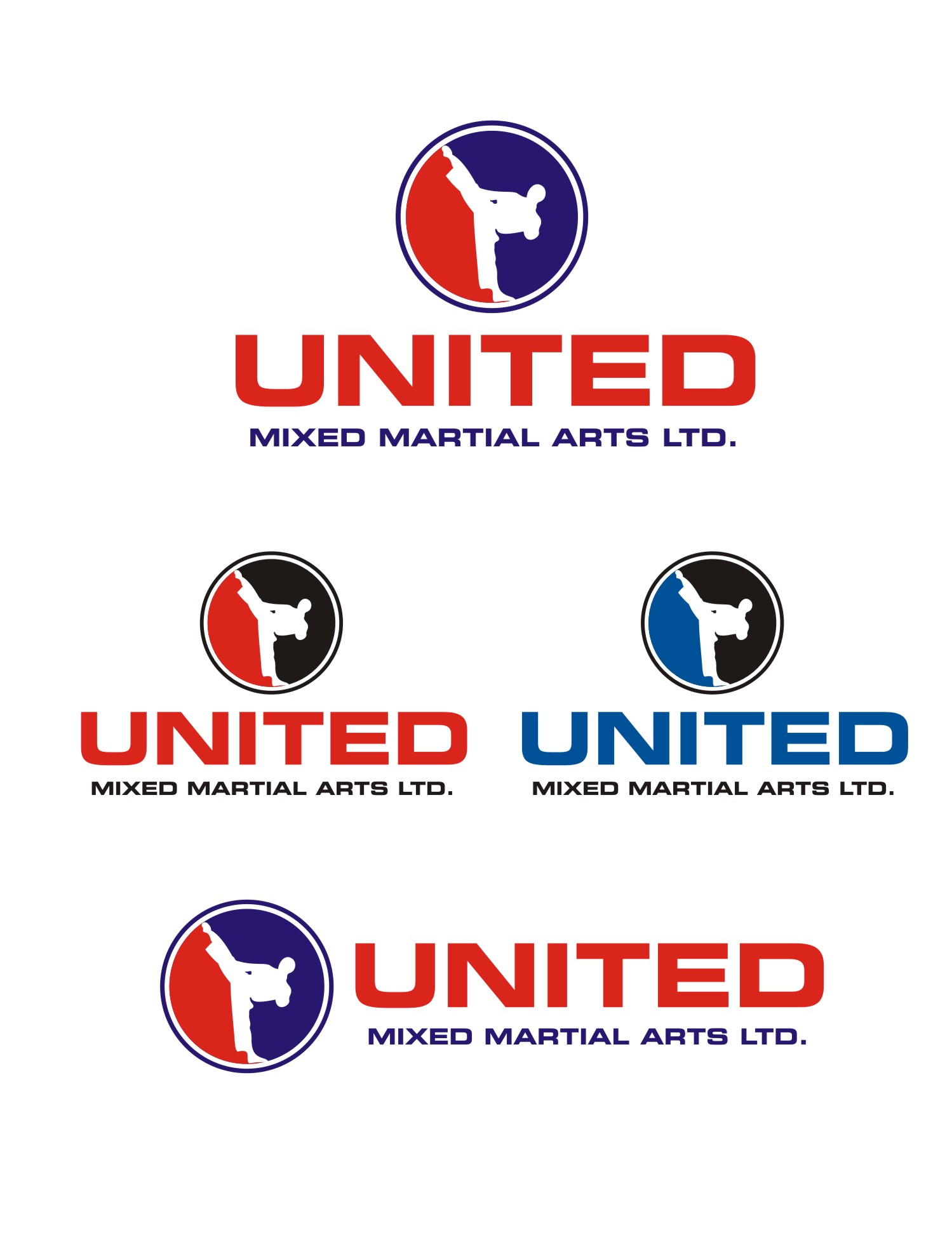 Logo Design by Spider Graphics - Entry No. 108 in the Logo Design Contest Artistic Logo Design for United Mixed Martial Arts Ltd..