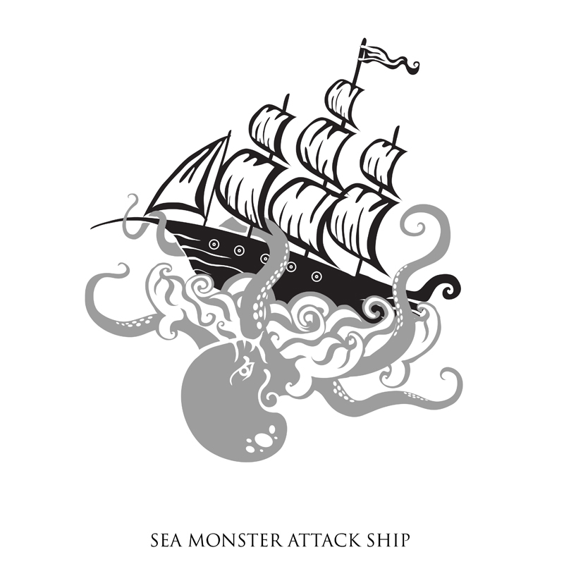 Logo Design by Kovacs Katalin - Entry No. 18 in the Logo Design Contest Sea Monster Attacks Ship.
