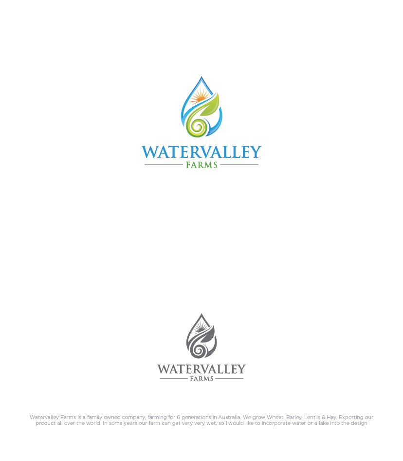 Logo Design by haidu - Entry No. 43 in the Logo Design Contest New Logo Design for Watervalley Farms.
