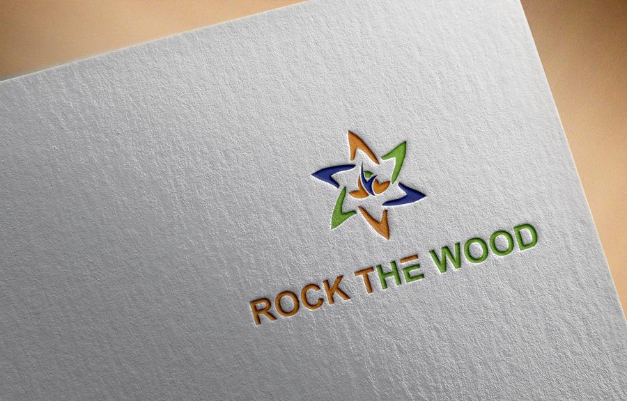 Logo Design by Imtaslim Taslima - Entry No. 49 in the Logo Design Contest New Logo Design for Rock the Wood.