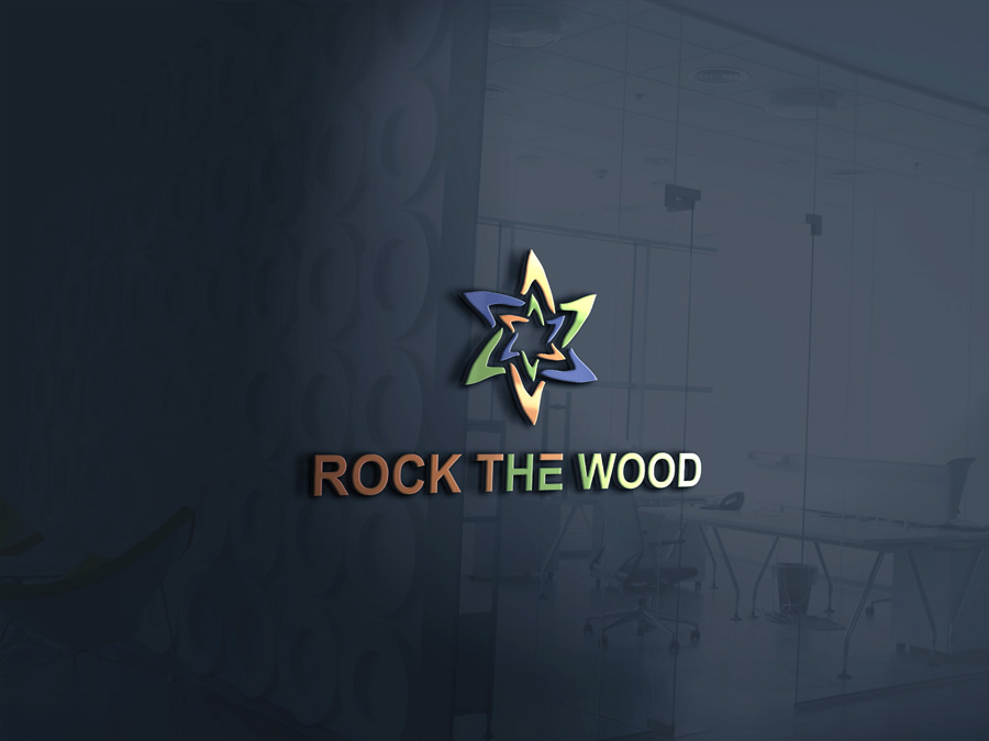 Logo Design by Imtaslim Taslima - Entry No. 51 in the Logo Design Contest New Logo Design for Rock the Wood.