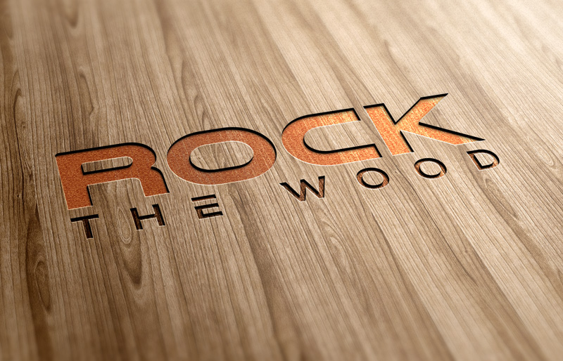 Logo Design by Imtiaz Hossain - Entry No. 56 in the Logo Design Contest New Logo Design for Rock the Wood.